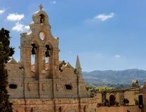 De mest berömda grekiska ortodoxa klosterklockorna arkivfoto