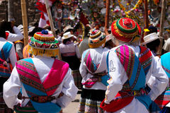 De mest intressanta ställena av Sydamerika, den peruanska festivalen Wititi skyddade UNESCO Fotografering för Bildbyråer
