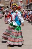 De mest intressanta ställena av Sydamerika, den peruanska festivalen Wititi skyddade UNESCO Royaltyfria Bilder