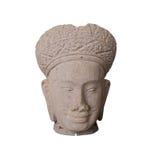 De met de hand gemaakte ambachten van het zandsteenbeeldhouwwerk van Kambodja met clippin Royalty-vrije Stock Foto's