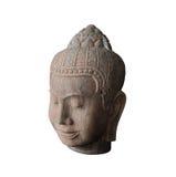 De met de hand gemaakte ambachten van het zandsteenbeeldhouwwerk van Kambodja met clippin Stock Foto's