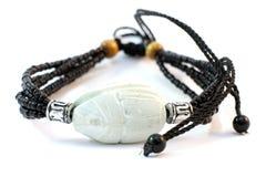 De met de hand gemaakte armband van het ivoor Stock Foto