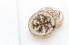 De met de hand gemaakte decoratie van het Kerstmisornament Stock Afbeeldingen