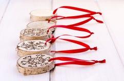 De met de hand gemaakte decoratie van het Kerstmisornament Royalty-vrije Stock Foto's