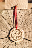 De met de hand gemaakte decoratie van het Kerstmisornament Royalty-vrije Stock Afbeelding