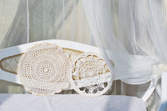 De met de hand gemaakte details van de kantdecoratie Royalty-vrije Stock Fotografie