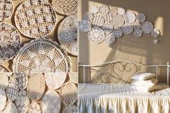 De met de hand gemaakte details van de kantdecoratie Royalty-vrije Stock Afbeelding