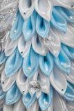 De met de hand gemaakte Kerstboom van de Stof stock afbeeldingen
