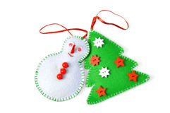 De met de hand gemaakte ornamenten van Kerstmis Stock Fotografie