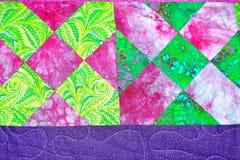 de met de hand gemaakte textuur van het lapwerkdekbed backround Royalty-vrije Stock Foto