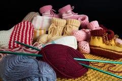 De met de hand gemaakte wol van toebehoren royalty-vrije stock afbeelding