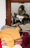 De met de hand gemaakte wol van toebehoren stock fotografie