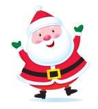 De met de hand geschilderde Kerstman Royalty-vrije Stock Afbeeldingen