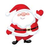 De met de hand geschilderde Kerstman Stock Foto