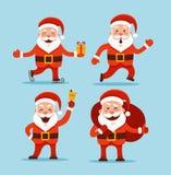 De met de hand geschilderde Kerstman Royalty-vrije Stock Afbeelding