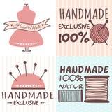 De met de hand gemaakte kentekens die van de handwerkambacht banners naaien stock illustratie