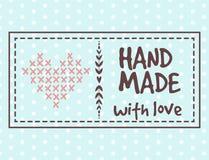 De met de hand gemaakte kentekens die van de handwerkambacht banners naaien vormen het maken de elementen vectorillustratie van h royalty-vrije illustratie