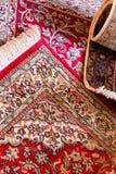 de met de hand gemaakte tapijten van de kashmilzijde Royalty-vrije Stock Foto