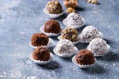 De met de hand gemaakte Truffels van de Chocolade Royalty-vrije Stock Fotografie