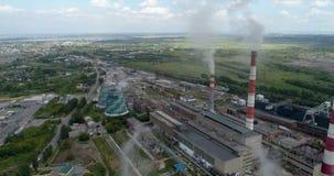 De met kolen gestookte elektrische centrale verontreinigt het milieu stock video