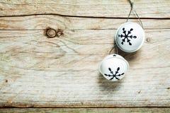 De metaal ronde achtergrond van Kerstmisklokken Stock Afbeeldingen