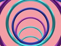de metaal roze 3d achtergrond van het cirkelkader geeft terug stock illustratie