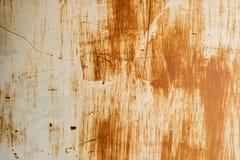 De metaalmuur roest achtergrond stock afbeelding