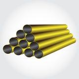 De metaalpiramide van pijpen Stock Fotografie