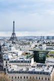 De metaaltoren van Eiffel Stock Afbeeldingen