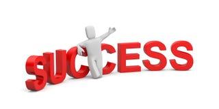 De metafoor van het succes Stock Foto
