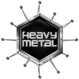 De metales pesados - hexágono metálico Fotos de archivo