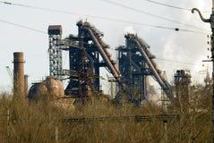 De metallurgische Installatie van het ijzer en van het staal Stock Foto's