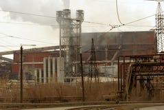 De metallurgische Installatie van het ijzer en van het staal Stock Foto