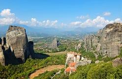 De Meteora klosterna i Grekland Royaltyfri Foto