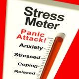 De Meter die van de spanning Paniek toont Stock Foto