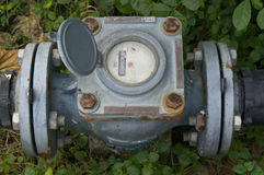 De meter van het oude en roestwater Royalty-vrije Stock Foto