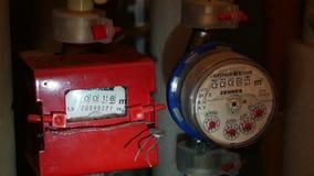De meter van het water stock footage