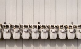 De meters van het gas   Stock Afbeeldingen