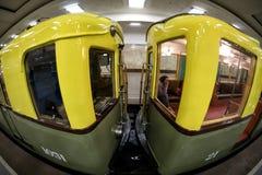 De metro retro trein van Moskou ` s van 1934 10 juni, 2017 moskou Rusland Royalty-vrije Stock Foto