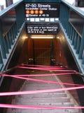 De metro sluit in New York toe te schrijven aan orkaan Royalty-vrije Stock Afbeeldingen