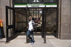 De metro van de Straat van Boylston stock afbeeldingen
