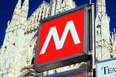 De Metro van Milaan Royalty-vrije Stock Foto's