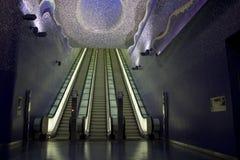 De metro van Napels, Toledo Art Station Stock Afbeeldingen