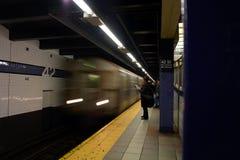 De metro van New York Stock Foto's