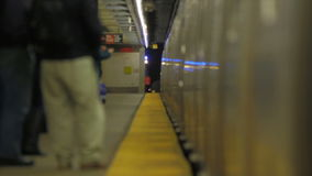 De metro van New York stock video