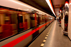 De metro van Praag stock foto's