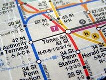 De metrokaart van New York Stock Foto