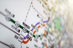 De metrokaart van Tokyo stock foto