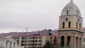 De Metropolitaanse Kathedraal in La Paz, Bolivië stock foto's