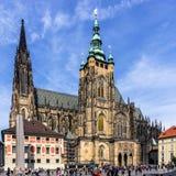 De Metropolitaanse Kathedraal van Heiligen Vitus, Wenceslaus en Adalbert Stock Foto